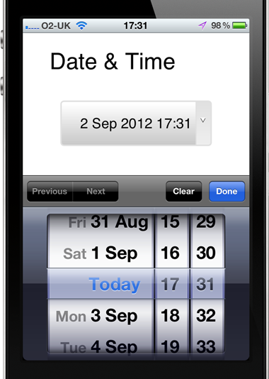Date and Time input type