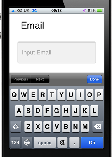 Email input type