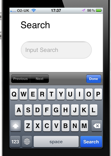Search input type