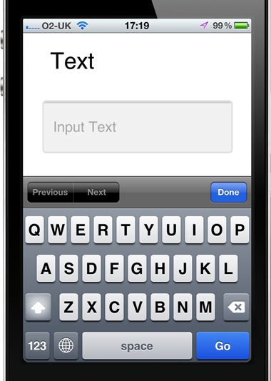 Mobile Input Types